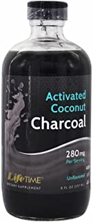LIFETIME Activated Coconut Charcoal, Liquid, Unflavored (Btl-Glass) | 8oz