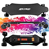 iENYRID 38inch Electric Longboard Electric Skateboards with Remote Control, 450W Hub Motor,26MPH Top Speed, 21.8 Miles Range, 330lbs Load Max