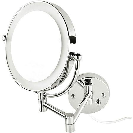Blanc JessLab Miroir de maquillage /éclair/é /à LED 1 x 10 x avec variateur dintensit/é tactile Accessoire de salle de bain