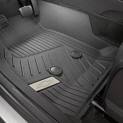 GM Accessories 84056631 Front Floor Liners in Jet Black with Bowtie Logo