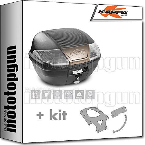 kappa maleta k400nt 40 lt + portaequipaje monolock compatible con yamaha xenter 125 150 2020 20