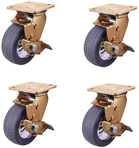 Fußrollen Seitenbremse schwere Industrie künstliches Klebematerial mutet trolley Doppelbremse Gerüsts Rad starke Druckbeständigkeit