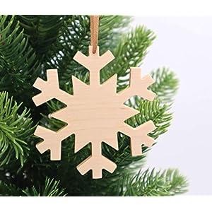 Weihnachtsdekoration aus Holz, handmade, nachhaltig, Schneeflocke, Eiskristall, 1 Stück, Weihnachtsbaumschmuck…