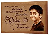 Presto Personalised Birthday Gift Valentine's Day Gift | Corporate Gift Wooden Photo Engraving