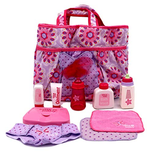 American Girl Bitty Baby - Mommys Diaper Bag Essentials for Dolls - Bitty Baby 2015