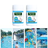 2 Bottles Pool Cleaning Effervescent Chlorine Tablets Cage Effectively Purify Swimming Pool Clarifier