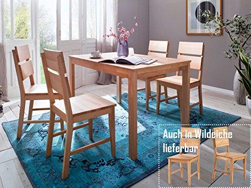 möbelando Holzstuhl Küchenstuhl Stuhl Esszimmerstuhl Viefuß Massivholz Maxiv I (2er Set) (Buche Natur massiv/geölt)