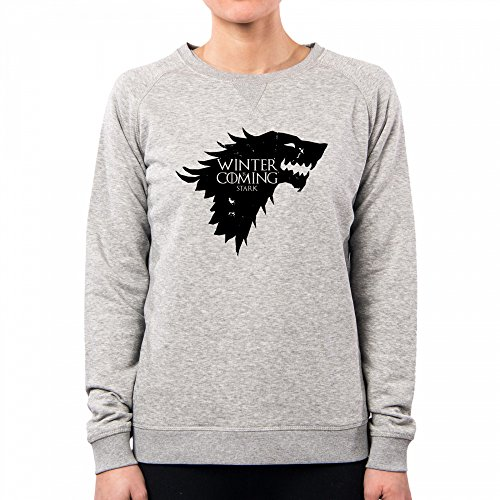 PACDESIGN Sudadera Mujer Stark Winter Is Coming Games of Thrones Serie TV Il Trono Di Spade TV Series Pd1450a