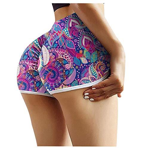 BAIYUEGUANG sommerhose damen leicht badehose frauen sporthose damen kurz kurze hosen sporthose damen 3/4 unterhosen mädchen strandhose damen fahrradunterhose damen