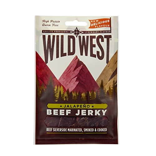 Wild West Jalapeno Flavour Beef Jerky Box of 12 x 70g Packs