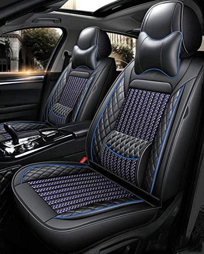 Yuting Rodeado Universal Fit 5 Asientos de Coche de Cuero Impermeables Cubiertas de Asientos Ajustables Protector Cojines del Asiento extraíble Auto (Color : E)