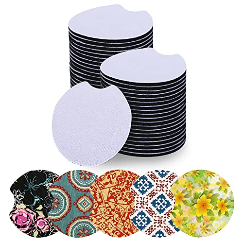Sottobicchieri in gomma per tazze a sublimazione, 40 pezzi, in neoprene, per progetti fai da te, per progetti di pittura e sublimazione