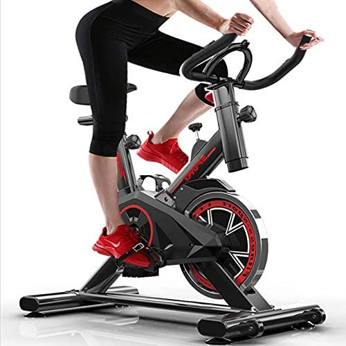 FCFLXJ Bicicleta de Fitness para Interiores, Bicicleta de Ciclismo estática, Bicicleta de Ejercicios Profesional Ajustable, Bicicleta Ajustable de Cardio Fitness en casa, Negro, 110 * 85 * 45cm