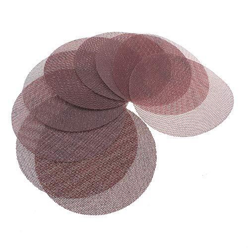 SELIYA 30 discos de lija de malla de 150 mm, 150 mm, sin polvo, abrasivo y antibloqueo, para piedra de madera del coche, 30 unidades surtidos A