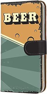スマホケース 手帳型 カードタイプ Galaxy S5 SC-04F・SCL23 対応 [BEER ビール・グリーン] ビンテージ アメリカン レトロ USA SAMSUNG サムスン ギャラクシー エスファイブ docomo au スマホカバ...
