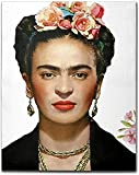 JASONNHZ Obra Moderna Hermosa Mujer Impresiones En Lienzo Y Póster Frida Kahlo Mujer Con Flores En La Cabeza Arte De La Pared Cuadro De Pintura En Lienzo Sin Marcos Foto De Pared,40×60cm
