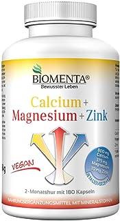 BIOMENTA CALCIO + MAGNESIO + ZINC | 180 VEGANO Nutriente Mineral Complejo Cápsulas | 2 Meses