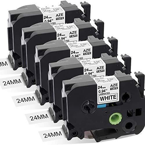 Kompatible Schriftband für Brother tze-231 tze231 P-touch Schwarz auf Weiß 12mm