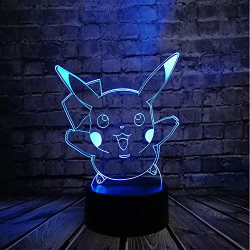 Lámpara de escritorio de la habitación de los niños de la serpiente animal de dibujos animados mascota lámpara LED 3D luz de la noche del regalo de la bola del dragón