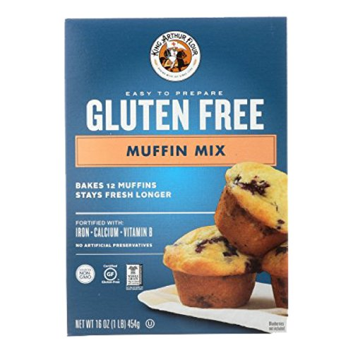King Arthur Flour Muffin Mix, Gluten Free, 16-Ounce (Pack of 1)