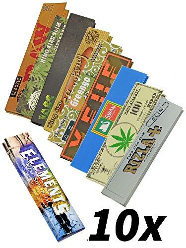 Longpaper Probierset mit 10 verschiedenen Marken-Papers - Head&Nature Papers Shop
