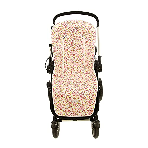 Funda de Verano para Silla Paseo Universal Rosy Fuentes- Colchoneta para Carrito Bebé- Transpirable-Compatible con Bugaboo, Jane, Concord, Baby Jogger, Bebecar…0-fucsia