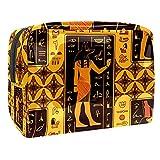 Antigua Grecia bolsa de maquillaje, pequeña bolsa de cosméticos de viaje PVC impermeable bolsa de maquillaje para mujeres y niñas organizando cosméticos