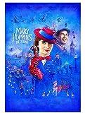 ggggx Mary Poppins da Rompecabezas de póster de película 1000 Piezas Juego de niños Adultos Regalo de Juguete Interesante para niños Regalos de cumpleaños de Navidad 38 * 26 cm