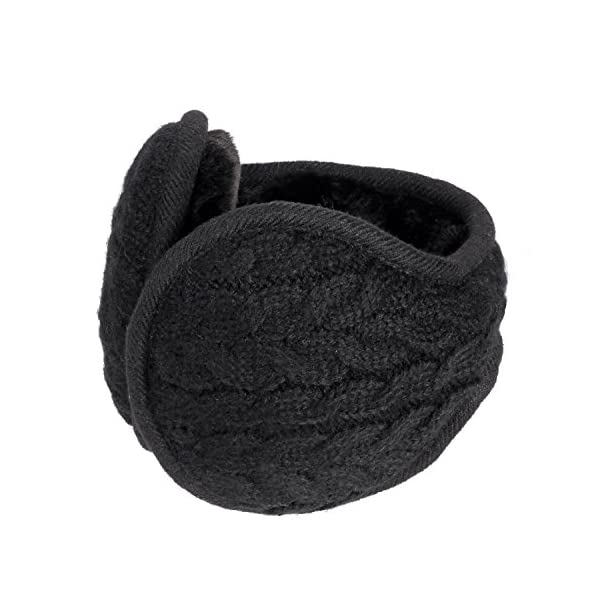Sudawave Unisex Foldable/Adjustable Wrap EarMuffs Winter Outdoor Knitted Men Women Ear Warmers