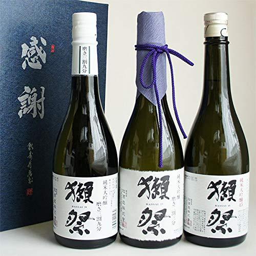 日本酒セット 獺祭 飲み比べ 純米大吟醸 磨き23・39・45 720ml 3本 感謝のギフト箱入 獺祭の純正包装紙で無料包装