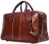 Floto Luggage Venezia Trunk Duffle Bag in Brown Leather