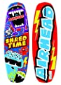 Airhead SHRED TIME WAKEBOARD, Red, Blue, Yellow, Green, Purple (AHW-1030)