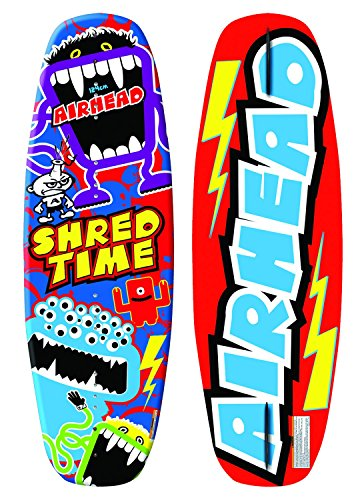 Airhead SHRED TIME WAKEBOARD, Red, Blue, Yellow, Green, Purple