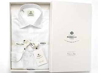ルイジボレッリ ルイジボレリ LUIGI BORRELLI / 20SS!リネンコットンポプリン無地イタリアンカラーシャツ「NISIDA(9029)」 (ホワイト) メンズ