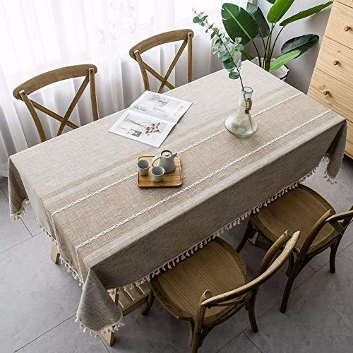 Mantel Rectangular de Tela Decorativa a Rayas Simples para Mesa, Mantel de Fiesta de Boda al por Mayor, decoración de Hotel, Z 140x220cm