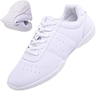 DADAWEN Adult & Youth White Cheerleading Shoe Athletic Sport Training Competition Tennis Sneakers Cheer Shoes