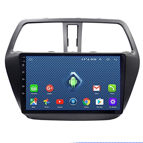 YSSSZ Navegador GPS para automóvil Radio Reproductor de música para Suzuki S-Cross 2014-2017, Navegación por satélite Soporte de Pantalla táctil de 9 Pulgadas FM/Am/Bluetooth / 4G WiFi,2G+32G+DSP