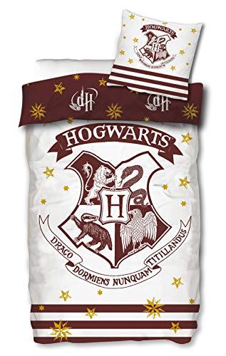 Bettwäsche Harry Potter 135x200 cm 80x80 Kissenbezug Bettwäsche-Set zum Wenden Hogwarts Baumwolle Öko-Tex Standard 100 Deutsche Standardgröße
