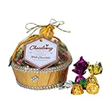 Chocoloony Chocolate Gift Hamper Basket with 20 pcs Milk Chocolate (120gm) for Gift Sister, Wife and...