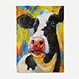 Manta con Estampado Vacas Animales Mantas para Sofa Manta de Microfibra Franela Throw de Microfibra Suave cálida y sólida para Cama sofá y Viaje 180x200cm