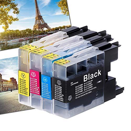 Karl Aiken - Cartuchos de tinta compatibles con impresoras Brother LC1240 LC1220 LC400 LC75 LC73 LC71 LC40 LC12 para impresoras Brother LC1100BK LC980BK y LC980BK