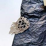 THQC Leone di Cristallo di Modo Spille Lucido Strass Nappa Donne Spilla Partito dei monili Suit Accessori Regali (Metal Color : 1)