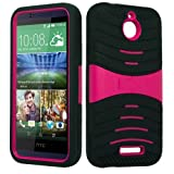 uBLACK/Pink Phone Case Cover for HTC Desire 510