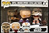Set 3 Figuras Pop! Star Wars Tarfful Unhooded Emperor Utapau Clone 2017 Fall Convention Exclusive