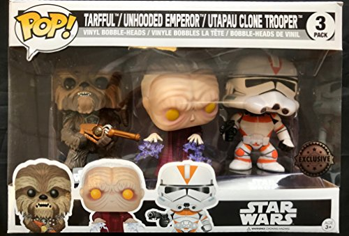 Set 3 Figuras Pop! Star Wars Tarfful Unhooded Emperor Utapau