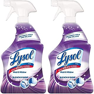 Lysol Mold & Mildew Foamer w. Bleach, Bathroom Cleaner Spray, 32oz (Pack of 2)