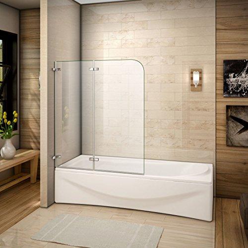 100x140cm Mamparas/pantalla para bañera biombo baño plegable de Aica