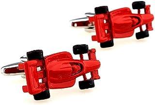 MRCUFF Race Car Indy F1 Red Formula One Pair Cufflinks in a Presentation Gift Box & Polishing Cloth