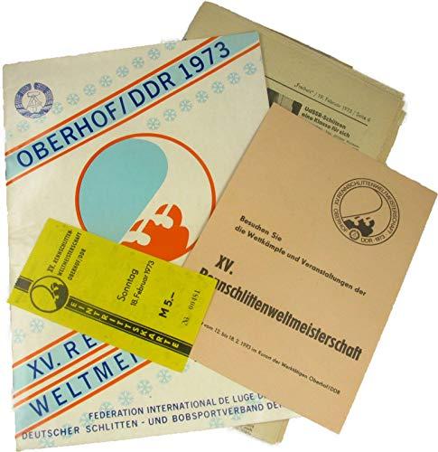 Programm XV. Rennschlitten-Weltmeisterschaft Oberhof 1973