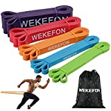 WEKEFON Pull Up Assistance Bands 5-170lbs Thick Heavy Duty Resistance Bands Set for Men & Women, Exercise Bands Stretch Workout Band for Body Training, Crossfit Mobility Fitness Assist Bands Set of 5